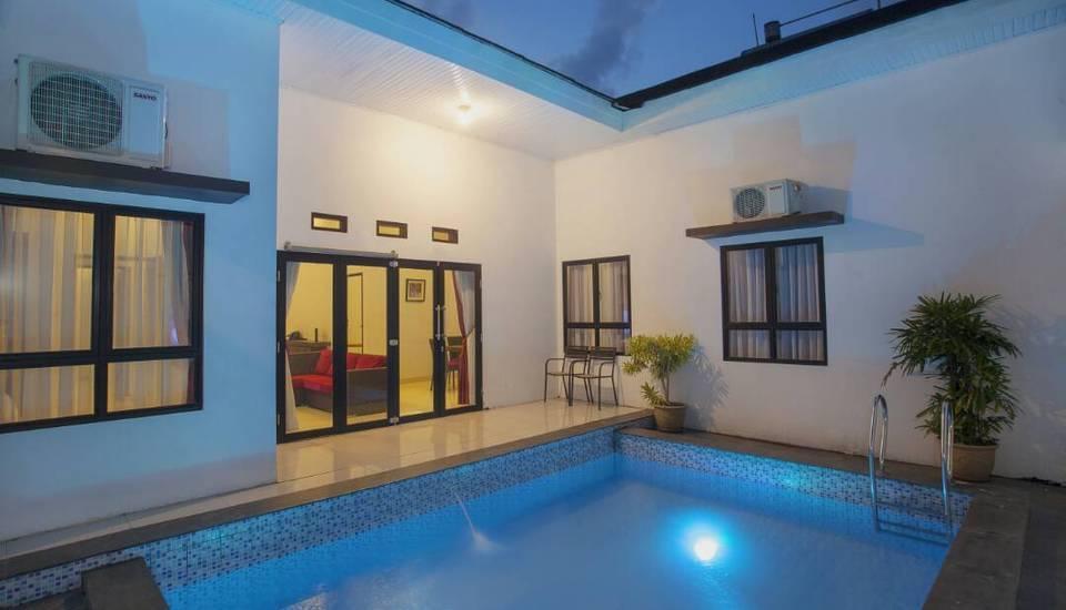 The Baliview Luxury Hotel & Resto Pekanbaru - kolam renang pribadi