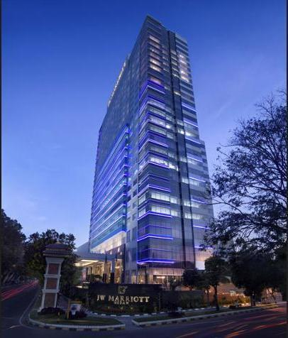 JW Marriott Medan - Hotel Front - Evening/Night