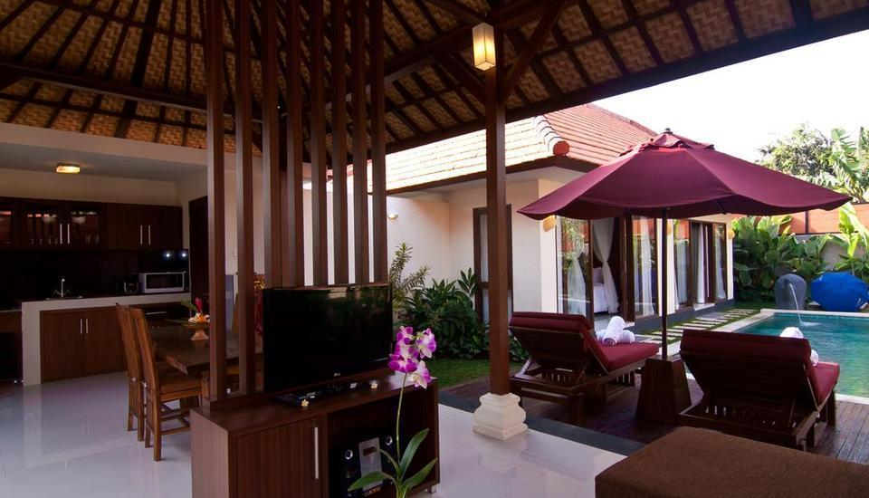 The Awan Villas Balli - Ruang tamu