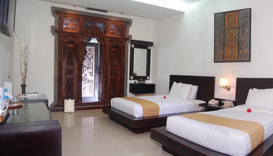 Satriya Cottages Bali - Deluxe dengan dua tempat tidur