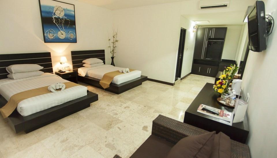 Satriya Cottages Bali - Kamar Deluxe 2 tempat tidur