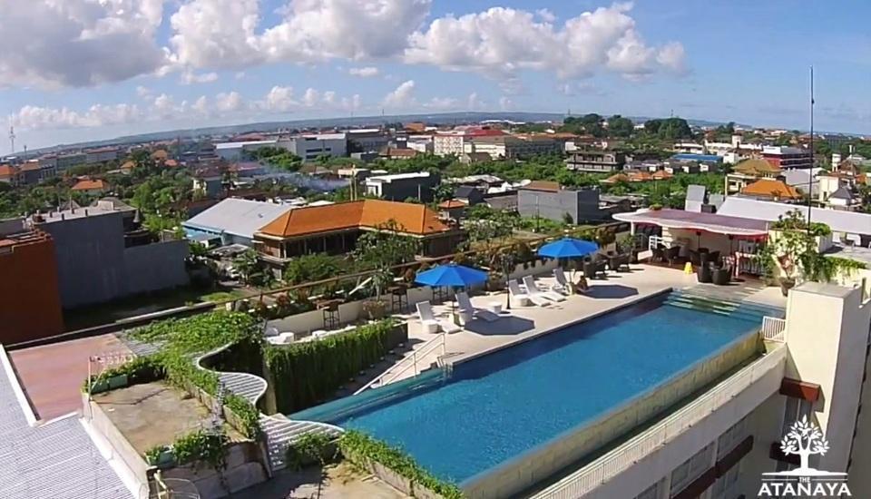 Atanaya Kuta Bali - Rooptop pool view
