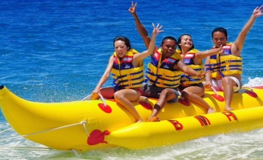 Green Garden Resort Serang - Perahu pisang