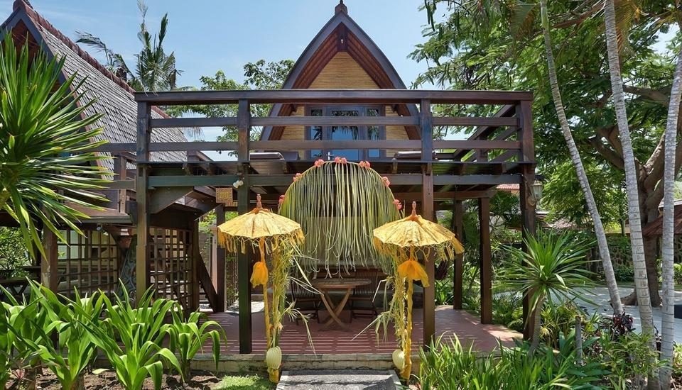 Hotel Villa Ombak Lombok - Traditional Lumbung Hut Long Stay 2018