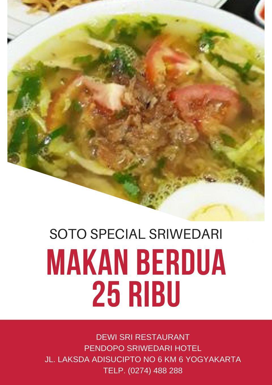Sriwedari Hotel Yogyakarta - Paket makan