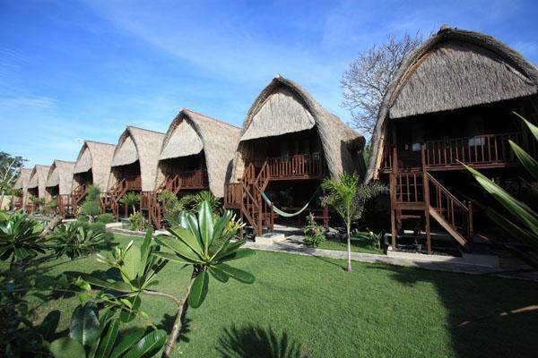 Dream Beach Kubu Lembongan - Tipe kamar dan Area Taman
