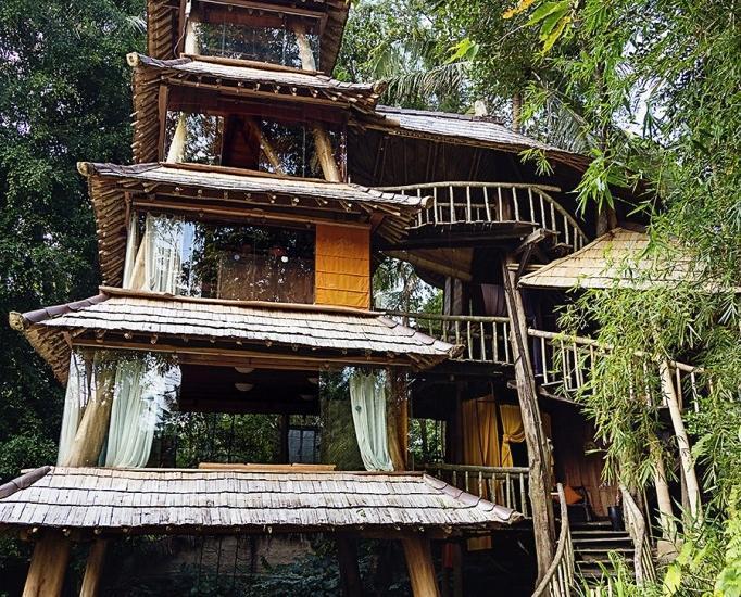 Bambu Indah Villa Bali - Pagoda (23/Dec/2013)