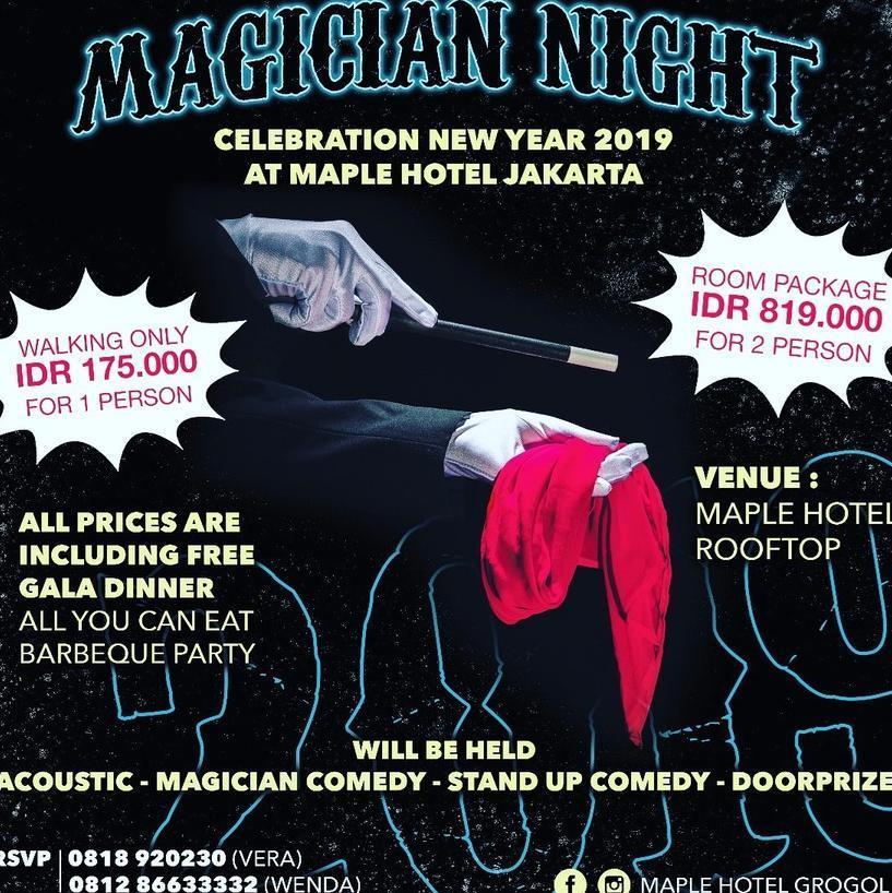 Maple Hotel Grogol Jakarta - New Year 2019