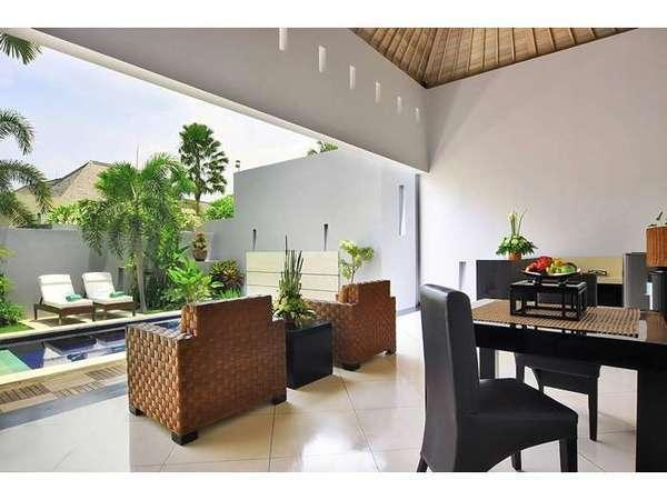 The Seminyak Suite Bali - One bedroom villa-Living Room