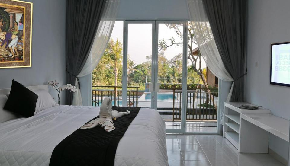 Puri Suksma Ubud Bali - Deluxe Double Room With Pool View Regular Plan