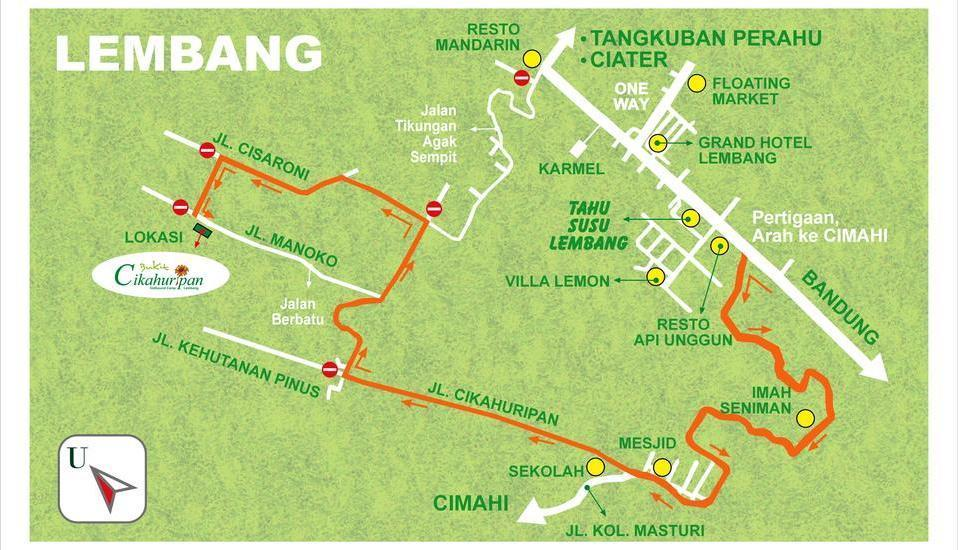 Bukit Cikahuripan Resort Bandung - Peta