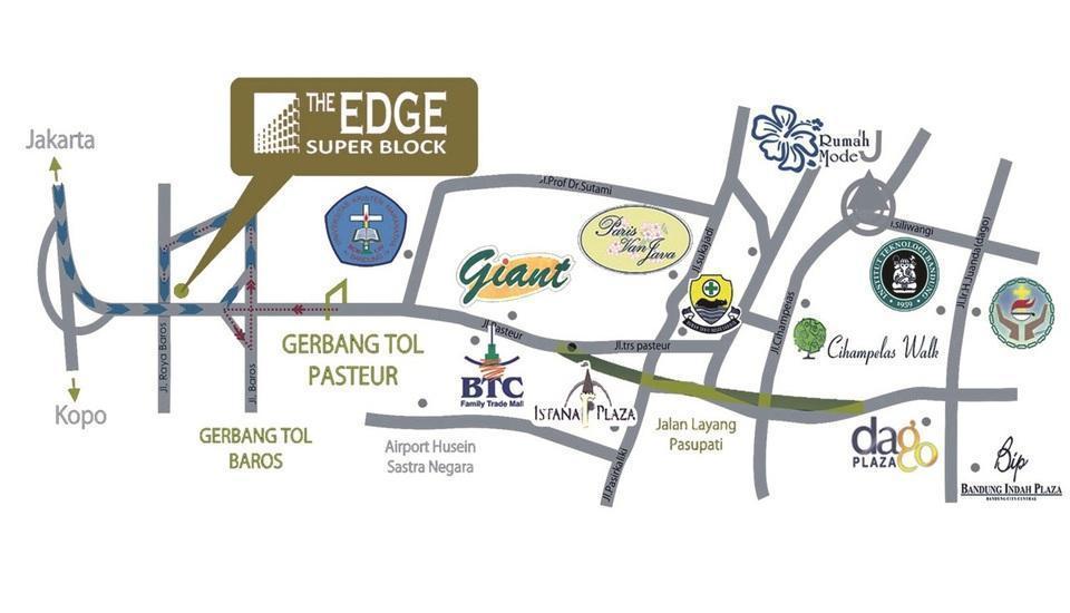 High Livin Apartment Bandung - Peta