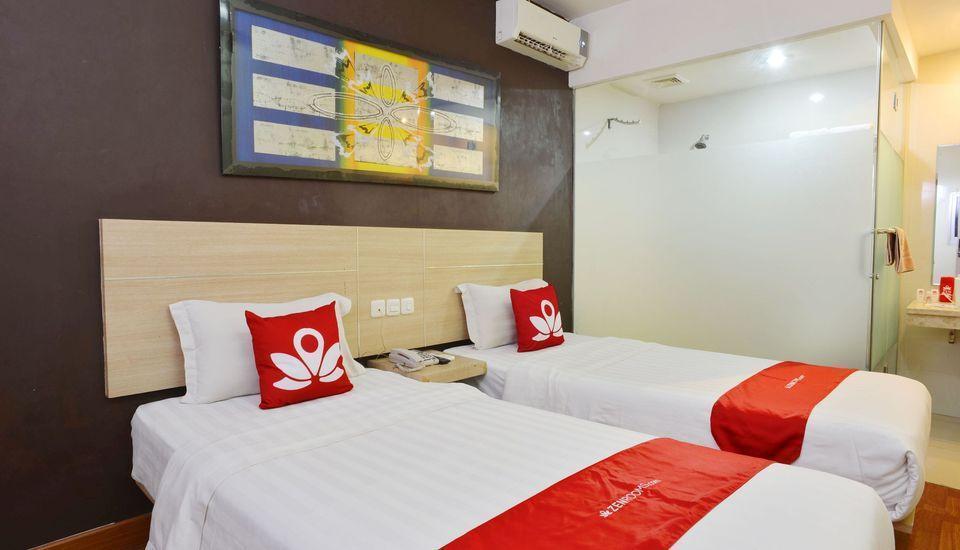 ZEN Rooms Rujia Hotel Pasar Baru - Tempat tidur Twin