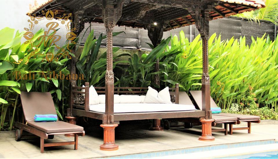 The Nibbana Villas Bali - kanopi untuk bersantai