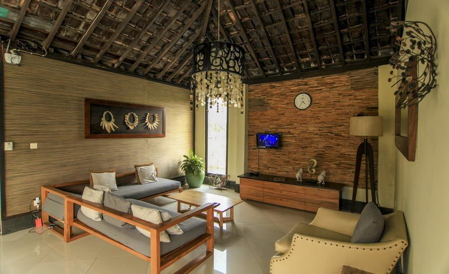 Villa Padi Pakem Yogyakarta - ruang keluarga