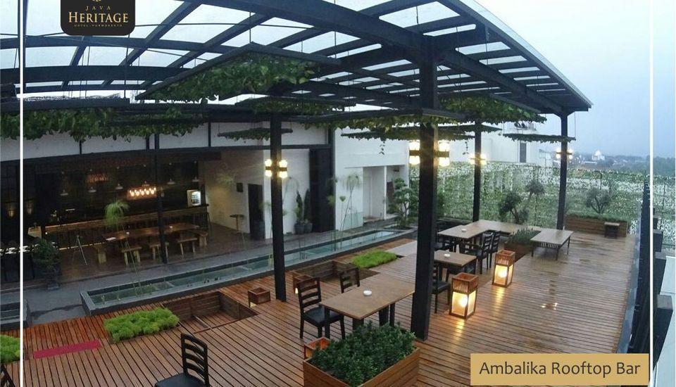 Java Heritage Hotel Purwokerto Purwokerto - Ambalika Rooftop Bar