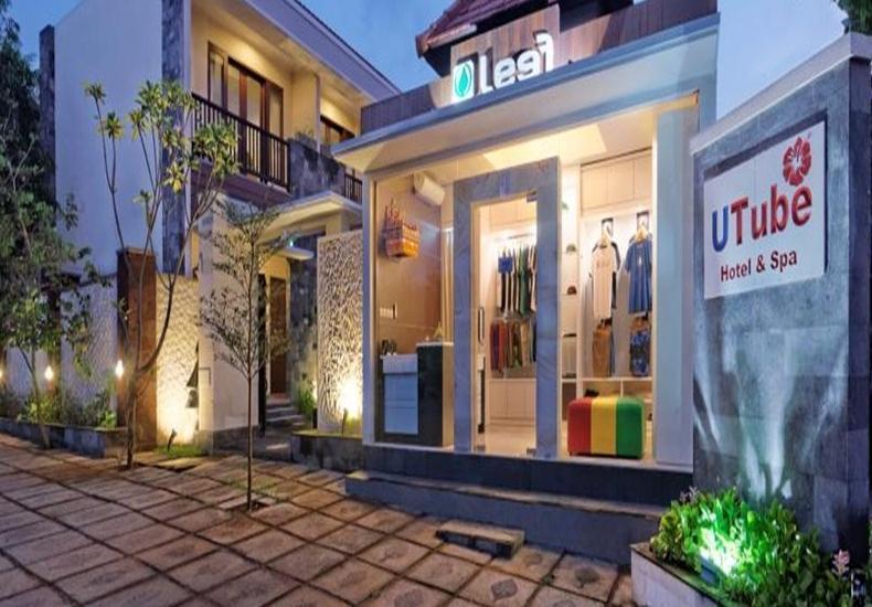 U Tube Hotel Bali - Tampilan Luar Hotel