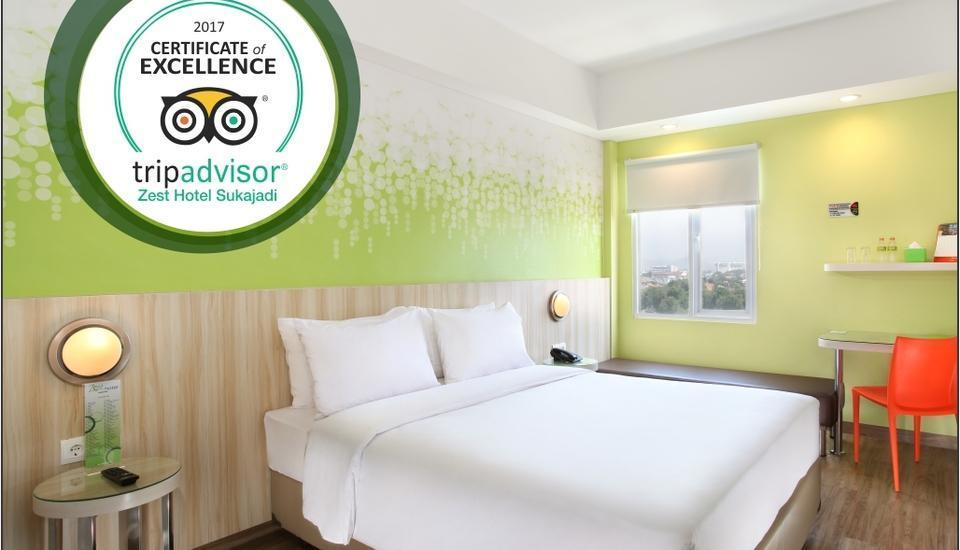 Zest Hotel Sukajadi Bandung - Zest Queen Room With Breakfast Regular Plan