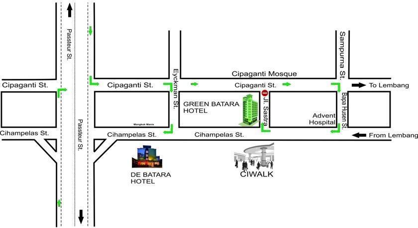Green Batara Hotel Bandung - Map