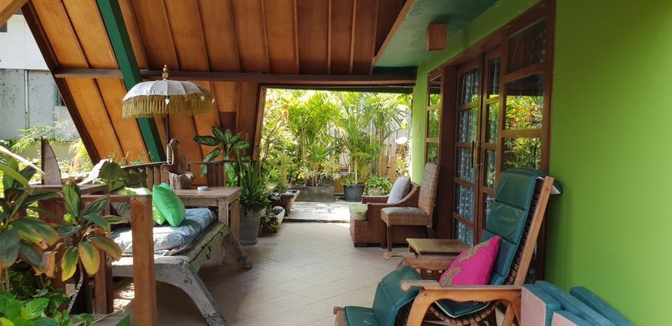 Green Chaka Villa Bali - Balcony di kamar super Deluxe