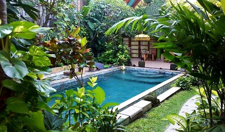 Green Chaka Villa Bali - garden pool