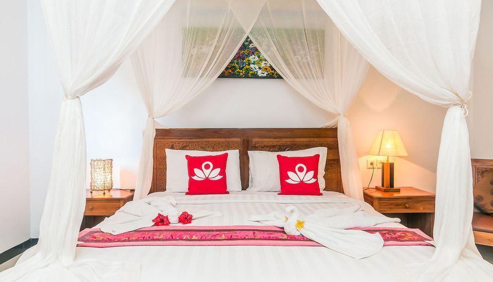 ZenRooms Ubud Nyuh Kuning Bali - Tampak tempat tidur double