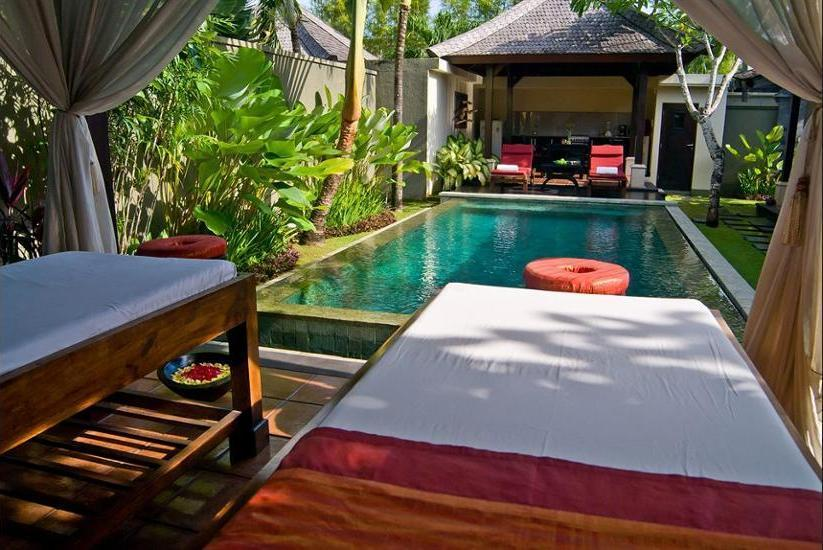 The Ulin Villas and Spa Bali - Outdoor Spa Tub