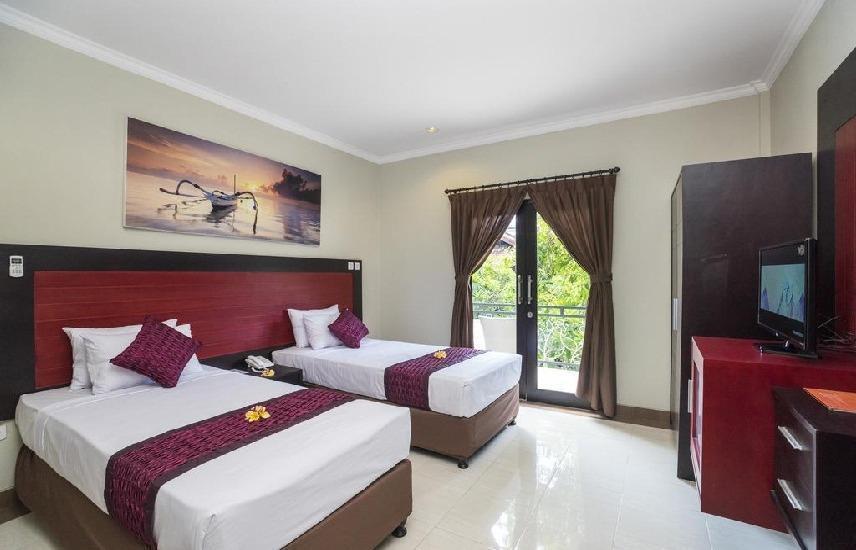 Legian Village Hotel Bali - tempat tidur Twin