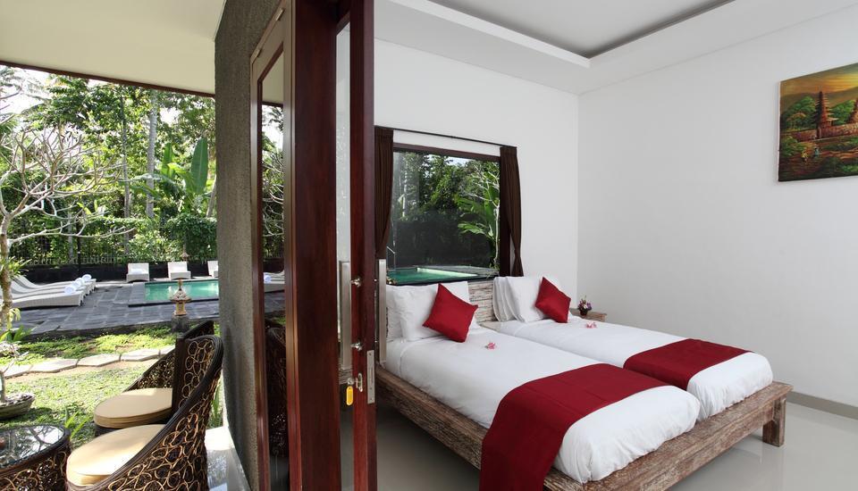 Ubad Retreat Bali - Kamar tidur Twin Bed