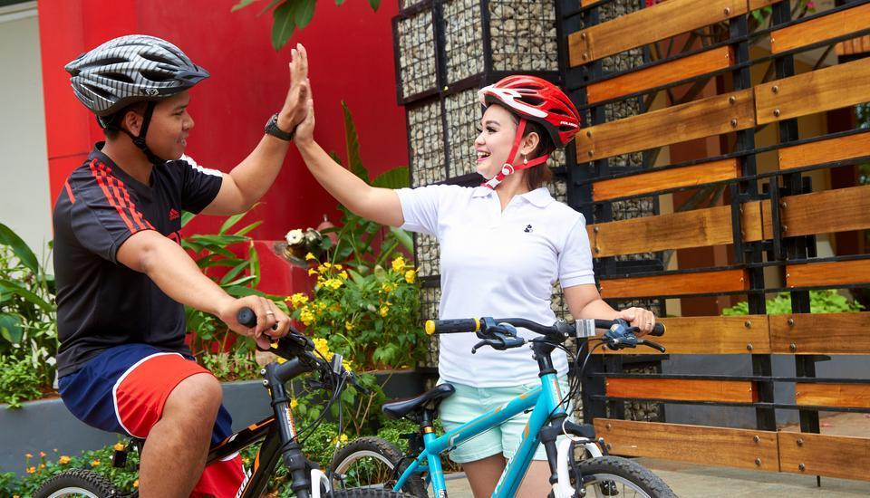 Hom Hotel Tambun - Bicycle track at @HOM Hotel Tambun