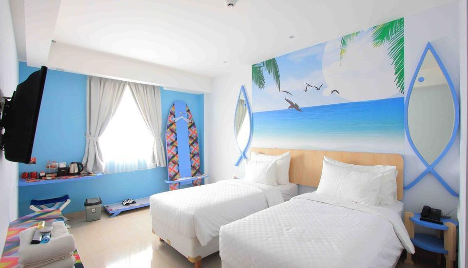 Uniq Hotel Jogja - Deluxe Twin Bed Regular Plan