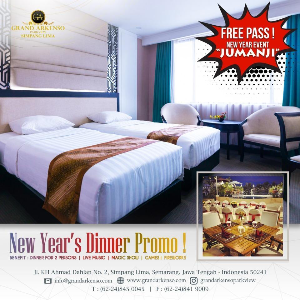 Grand Arkenso Park View Simpang Lima Semarang - Deluxe twin + new year dinner