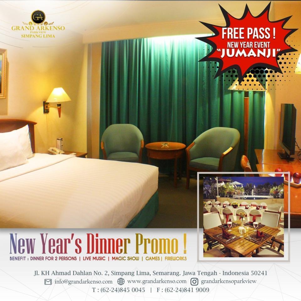 Grand Arkenso Park View Simpang Lima Semarang - Deluxe king+new year dinner