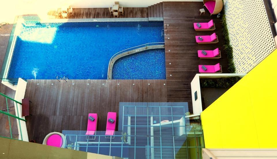 Shakti Hotel Bandung - Pool view from the 2nd Floor