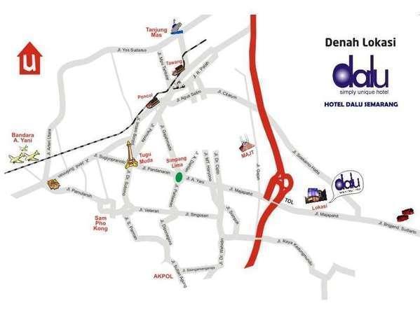 Hotel Dalu Semarang - Peta hotel dalu