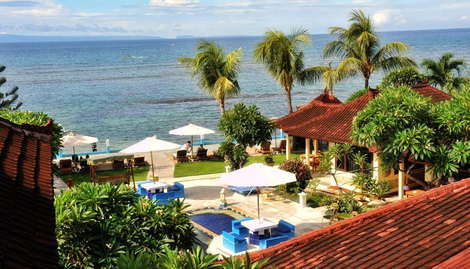 The Bali Shangrila Beach Club Bali - pemandangan dari puncak gedung
