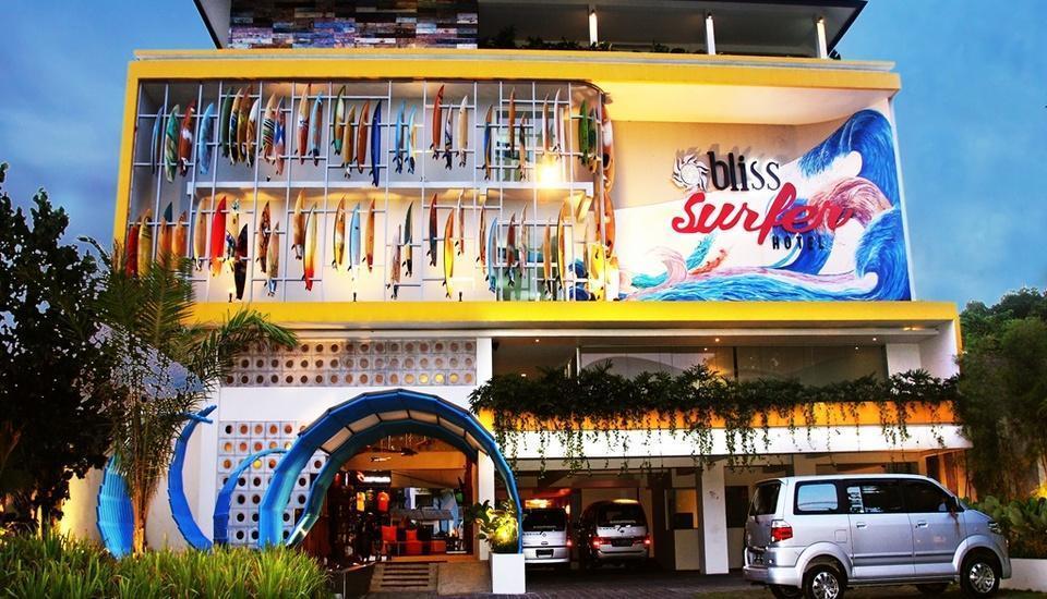 Bliss Surfer Thematic Hotel Bali - Tampilan Luar Hotel