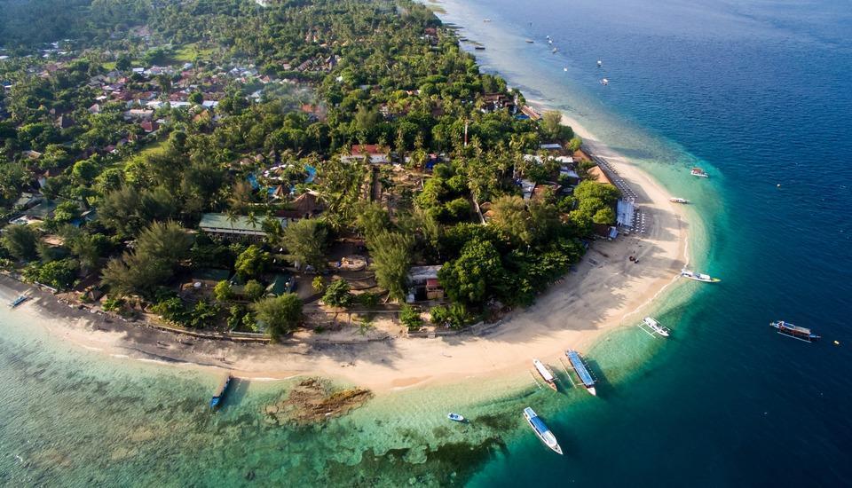 Gili Air Lagoon Resort Lombok - Bird's View