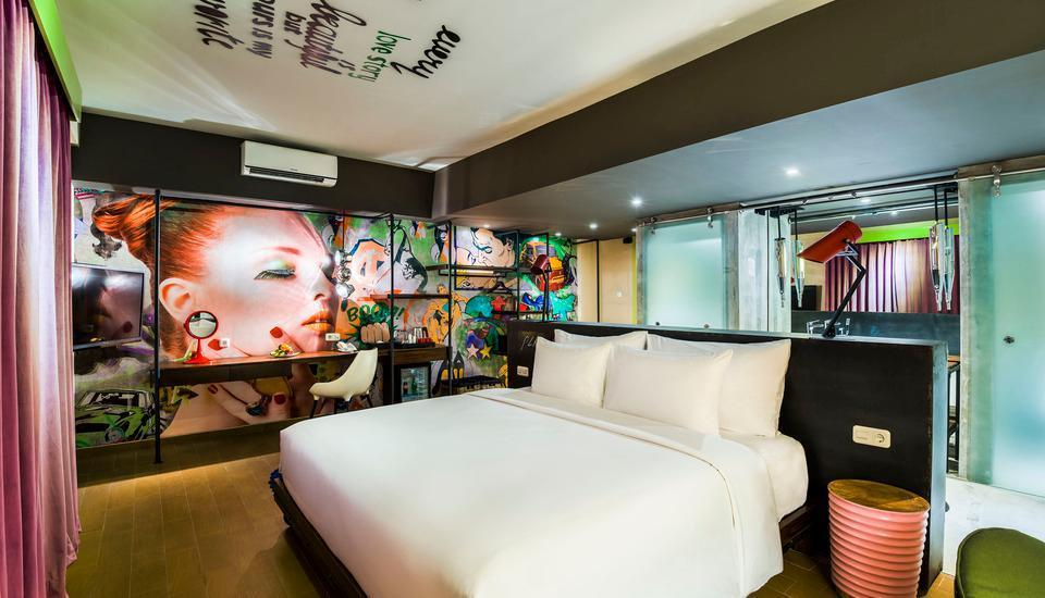 Dash Hotel Seminyak - Dash Deluxe City View Tanpa Sarapan Long Stay Offer 45%