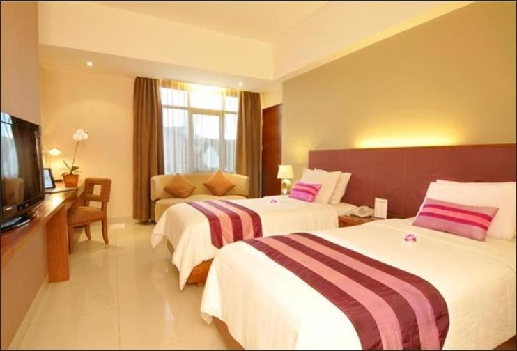 Anggrek Shopping Hotel Bandung - Deluxe Twin Room Only Regular Plan