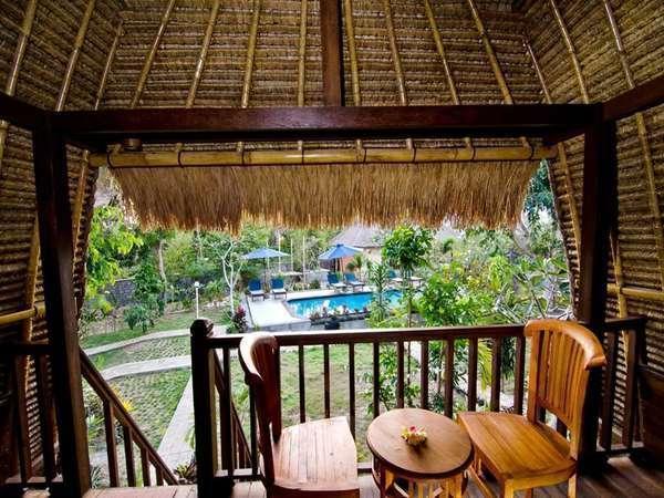 Lotus Garden Huts Bali - Balkon