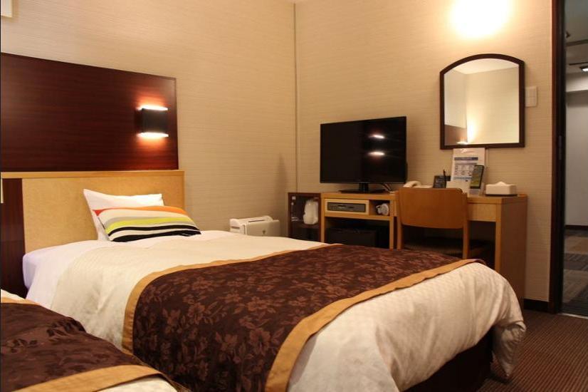 Ueno First City Hotel Tokyo - Kamar Twin Basic, 2 Tempat Tidur Twin, non-smoking, lemari es Regular Plan