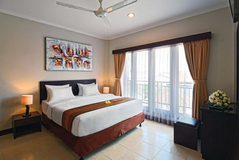 Kuta Townhouse Apartments Bali - Apartemen Deluks, 2 kamar tidur, akses difabel, pemandangan kolam renang Hemat 25%