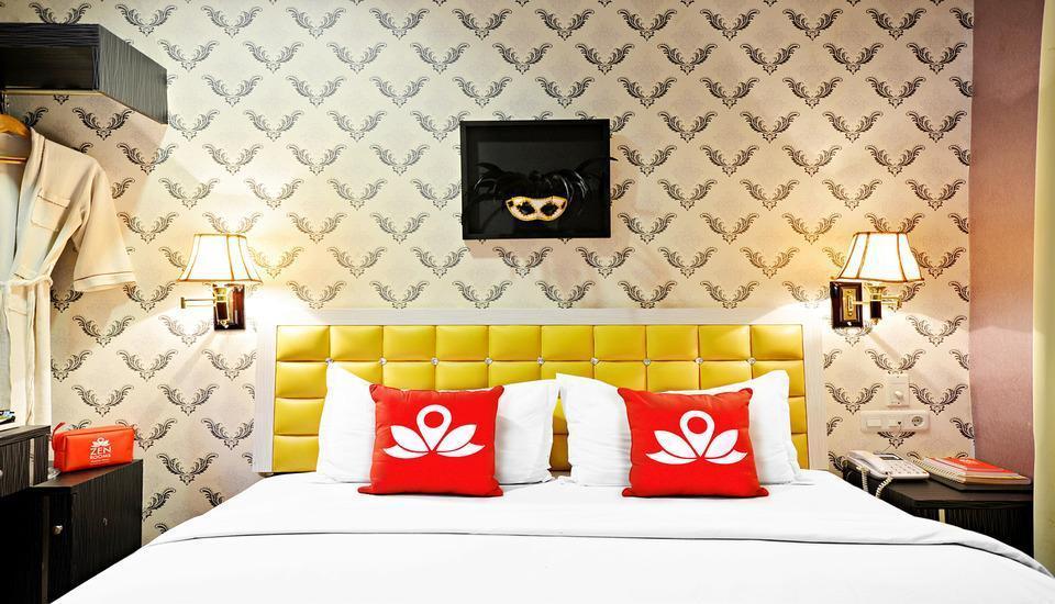 ZenRooms Hayam Wuruk Gajah Mada Jakarta - Tampak tempat tidur double