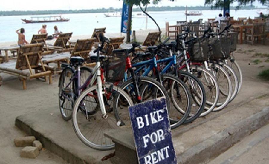 Mosaix Gili Bungalows Lombok - Sewa sepeda