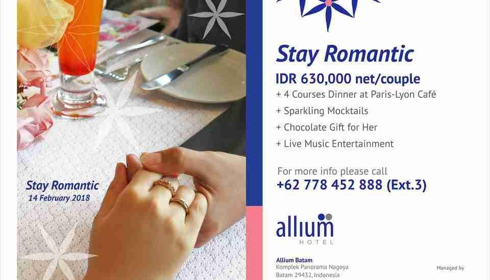 Allium Batam Hotel Batam - Paket Makan Malam Valentine