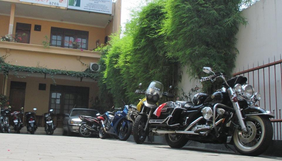 Gloria Amanda Hotel Yogyakarta - rombongan pengendara harley davidson