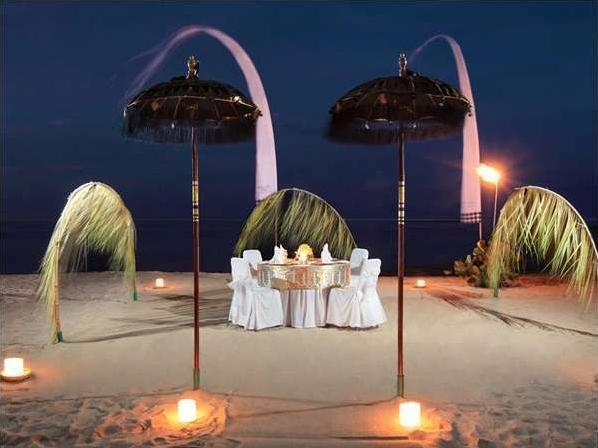 Sol Beach House Bali-Benoa All Inclusive by Melia Hotels Bali - Romantis Dinner Set up