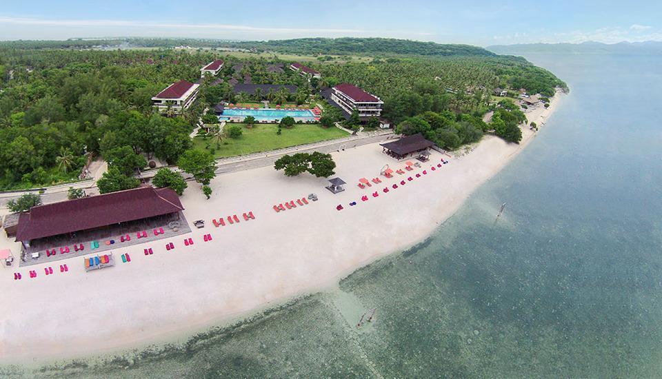 Hotel Ombak Sunset Lombok - aerial