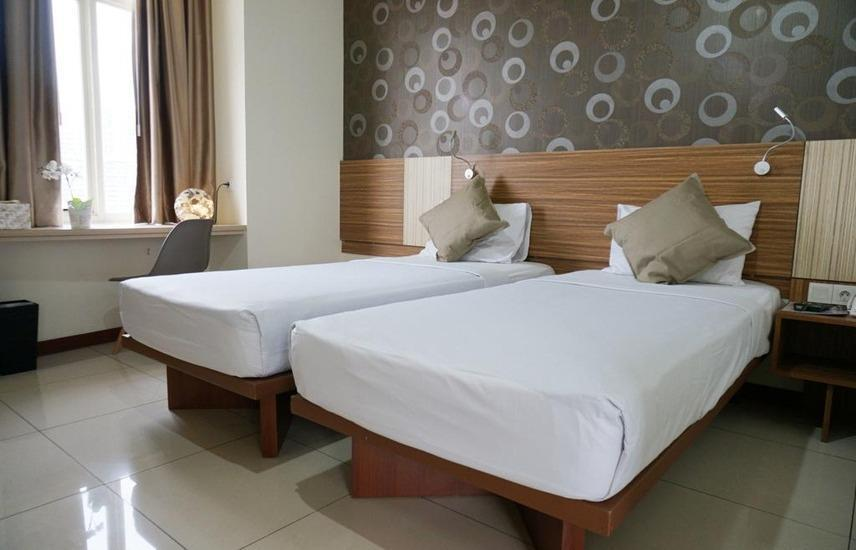 Smarthomm Hotel Jakarta - Deluxe Twin Room Special Promotion - 25%